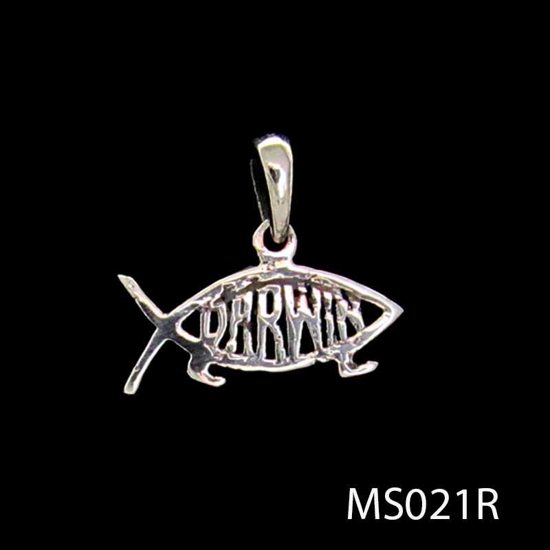 Sterling silver darwin fish pendantwholesale jewelry by zeppo sterling silver darwin fish pendant aloadofball Image collections